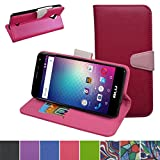 Blu Energy X 2 E050L E050U Case,Mama Mouth [Stand View] Flip Premium PU Leather [Wallet Case] With Card / Cash Slots and Pocket Cover For Blu Energy X 2 E050L E050U Smartphone,Rose Red