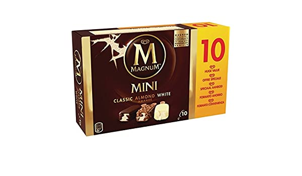 Magnum Clásico Almendras Blanco Helado - Paquete de 10 x 55 ml - Total: 550 ml: Amazon.es: Alimentación y bebidas