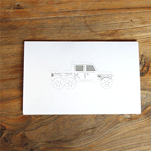 3D Pop Up Laser Cut Cards Car Postcards Happy Birthday For FatherS Day Lover Souvenir