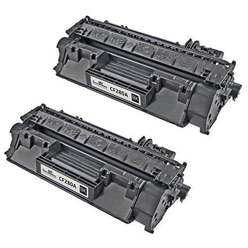 Speedy Inks - 2 Pack Compatible Replacement for HP 80A / HP80A / CF280A Black Laser Toner Cartridge for use in LaserJet Pro 400 M401dn, M401dne, M401dw, M401n, M425dn