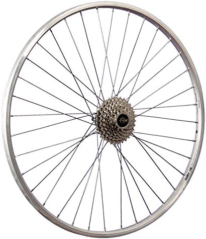 Taylor Wheels 28inch bike rear wheel double wall YAK19 Nirosta 622-19 silver