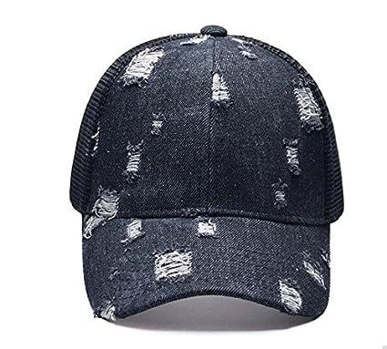 Meaeo La Moda De Verano Mujer Malla Denim Gorros Sombreros Sombreros Femeninos Caps La Restauración De