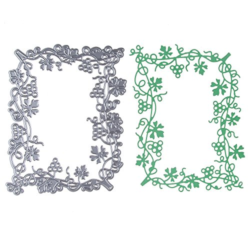 VT BigHome Square Flower Border Cutting Dies Stencils for DIY Scrapbooking Dies Scrapbook Paper Photo Album Christmas Craft Cut Dies