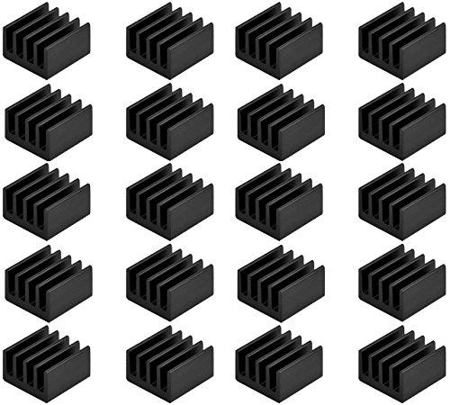 Easycargo 20pcs Small Heatsink Kit + 3M 8810 thermal conduct