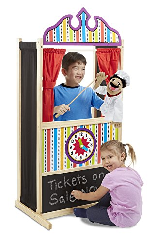 Melissa & Doug Deluxe Puppet Theater - Sturdy Wooden Construction by Melissa & Doug (Image #1)