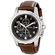 Fossil Men's FS4828 Dean Chronograph Stainless Steel Watch With Brown Leather Band