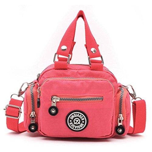 Handbag Shoulder Waterproof Bag Watermelon Diagonal Nylon Black Kolylong Red Women Messenger wIaFtqIZx