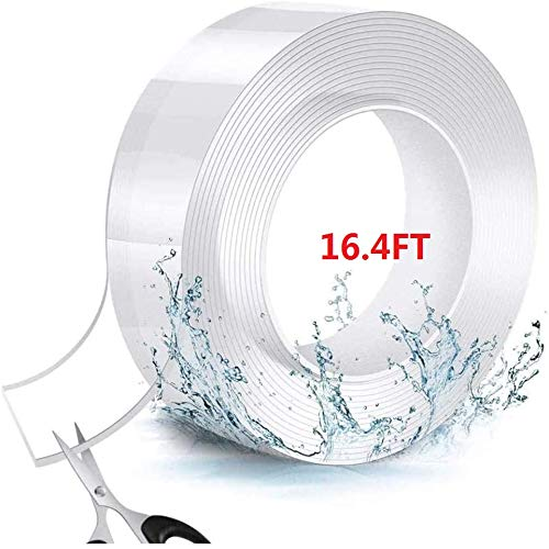 Double Sided Tape Heavy Duty,Nano Tape, Hand Washable and Reusable Nano Double-Sided Tape,Gel Grip Tape Clear,Fixed Carpet, Cabinet, Metal, Tile Home and Industrial Tape