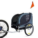 Peach Tree Large Pet Bike Trailer/Jogger Kit Dog Bicycle Carrier Dark Gray