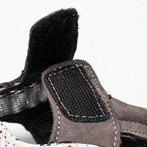 KVbaby Unisex Kinder Geschlossene Sandalen Sohlenmassage Sandalen Outdoor biegsame Sohle Trekkingsandalen Lauflernschuhe Klettverschluss Braun