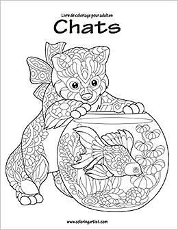 Coloriage Chat Pour Adulte.Livre De Coloriage Pour Adultes Chats 1 2 Amazon Fr Nick