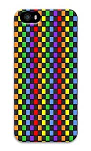 IMARTCASE iPhone 5S Case, Rainbow Checkerboard PC Hard Plastic Case for Apple iPhone 5S and iPhone 5 4070149M88603857