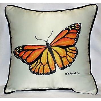 Amazon.com: Betsy Drake HJ346 - Cojín de mariposa, diseño de ...