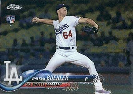eaac48d5 Amazon.com: Baseball MLB 2018 Topps Chrome #71 Walker Buehler RC ...