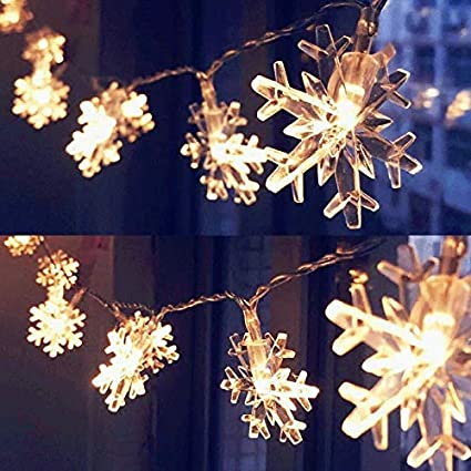 Amazon.com : AOSTAR 20LED Snowflakes String Lights Battery Operated Fairy Christmas  Lights for Indoor/Outdoor Decorations, Christmas Party, Wedding, ... - Amazon.com : AOSTAR 20LED Snowflakes String Lights Battery Operated