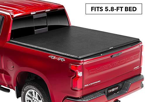 "TruXedo TruXport Soft Roll-up Truck Bed Tonneau Cover | 272401 | fits 2019 GMC Sierra 1500 & Chevrolet Silverado 1500 New Body Style 5'8"" Bed"