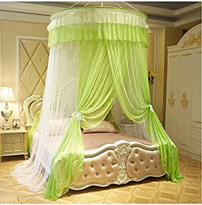 KingKara Luxury Princess Bed Net Canopy Round Hoop Netting Bedroom Decor  Large Size Mosquito Net Bedding Or Outdoors Netting Fit Twin, Full, Queen,  ...