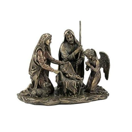 4329aaf9fd1 CAPRILO Figura Decorativa Religiosa de Resina Nacimiento Bronce. Adornos y  Esculturas. Belenes. Decoración
