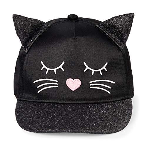 - The Children's Place Baby Girls Novelty Cat Baseball Cap, Black M/L (3-5T)