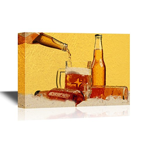 Beer Bottles and Glass on The Ice