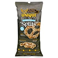 Unique Pretzels - Extra Salt Splits Pretzels, Delicious Vegan Snack Pretzels with Extra Salt, Large OU Kosher Pretzels Individual Pack, 11 Oz Bags, 3 Pack