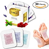 Foot Pads - (30 Pack) Premium Bamboo Vinegar Foot Patch, Stress Relief, Natural Aromatherapy Body Cleansing Foot Care & Sleep - New 2-in-1 Pads - by Rejuven8t