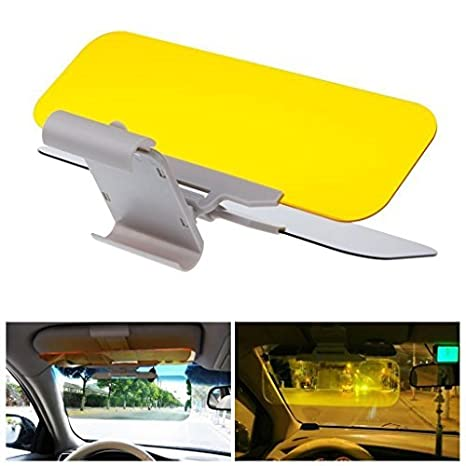LEEGOAL 2 in 1 Universal Automobile Sun Anti-UV Block Visor Mirrior Extender Anti-Dazzle Driving Visor Car Day Night Anti-Glare Visor