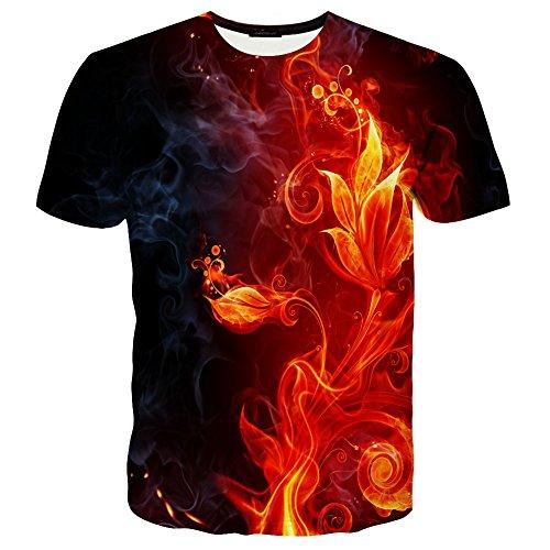 Unisex Short Sleeve Crew Shirt - Neemanndy Unisex Short Sleeve Crewneck 3D Galaxy Cat Printed T-Shirts Medium