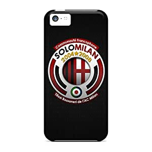 New Fashion Premium Tpu Case Cover For Iphone 5c - Ac Milan 2