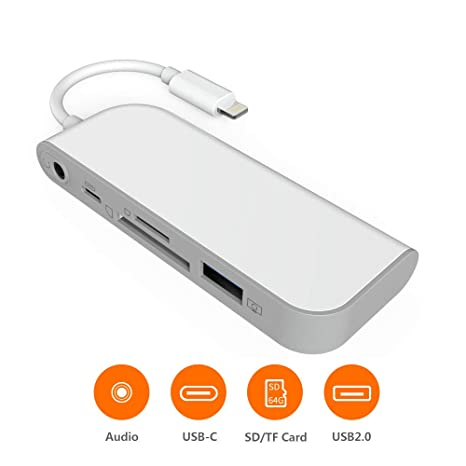 SwiftLand SD TF Lector de Tarjetas, Adaptador de USB a Phone Pad ...