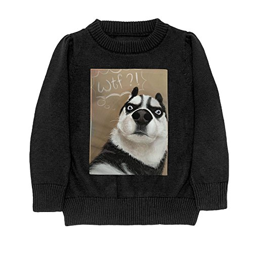 Hailin Tattoo Student Cool Fit Knit Sweater Pullover Digital Printing Husky WTF What The Fuck Crewneck Adult Sweater S-XL Black Small Wtf Christmas Ornaments