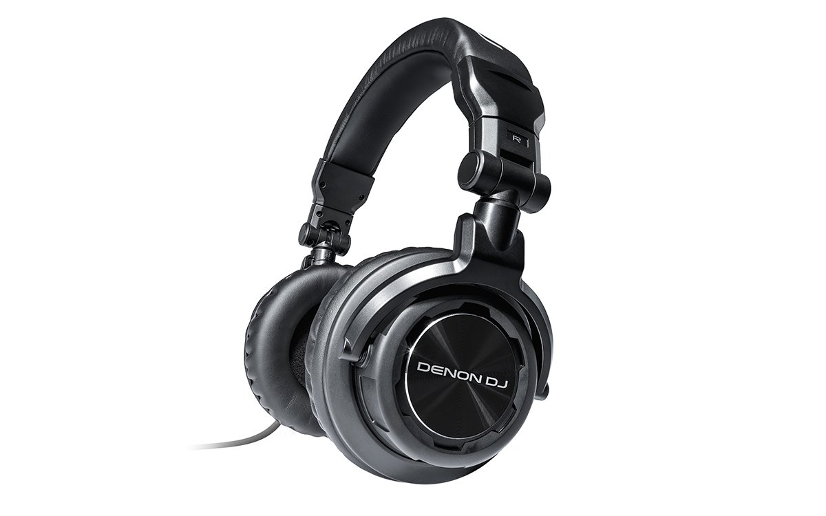 Denon DJ HP1100   Professional Over-Ear DJ Headphones with 180-degree Cup Swivel & Leather Carry Bag (53mm driver / 3500mW input)