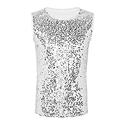Men's Summer Sequin Sleeveless Slim Fit Vest
