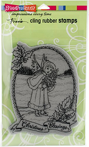 STAMPENDOUS Angel Blessing Cling Rubber Stamp - Angel Blessing Stamps