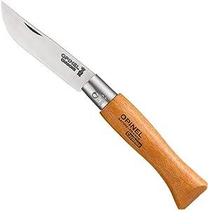 Opinel N Degree5 Bechwood Handle Carbon Steel Knife, 6 cm Blade