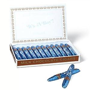 Madelaine Chocolate-It's A Boy Milk Chocolate Cigars, Box of 24 - 3/4 oz each, Net wt. 1lb. 2 oz(510 g)