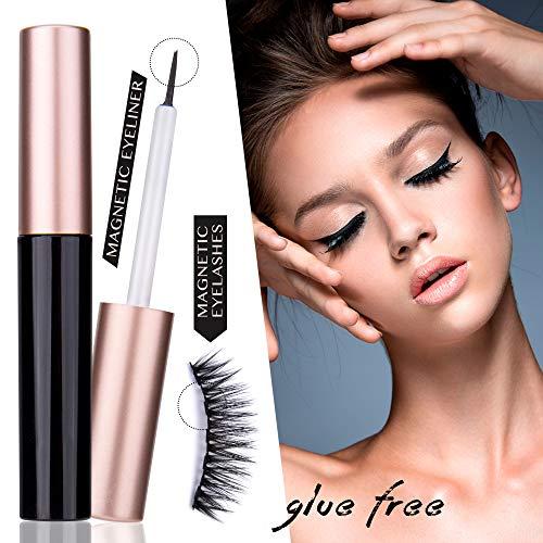 Magnetic Eyeliner With Magnetic Eyelashes,Liquid Eyeliner For Use with Magnetic Eyelashes [3 Pair]