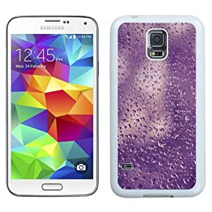 Fashionable Custom Designed Samsung Galaxy S5 I9600 G900a G900v G900p G900t G900w Phone Case With Purple Water Droplets Texture_White Phone Case