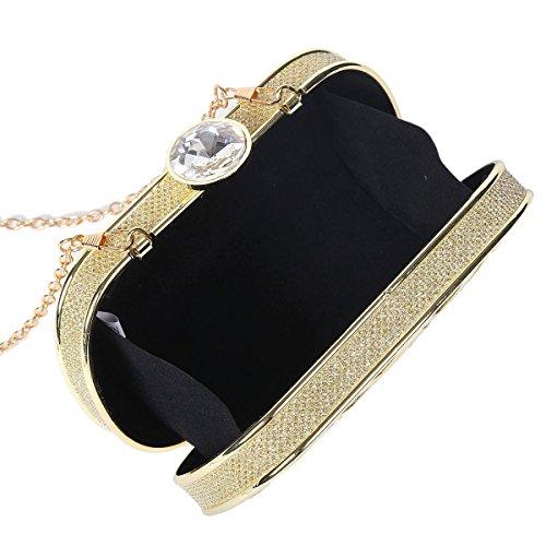 Black Evening Hardcase Womens Clutch Cutout Metal Damara Bag HXB0x4q