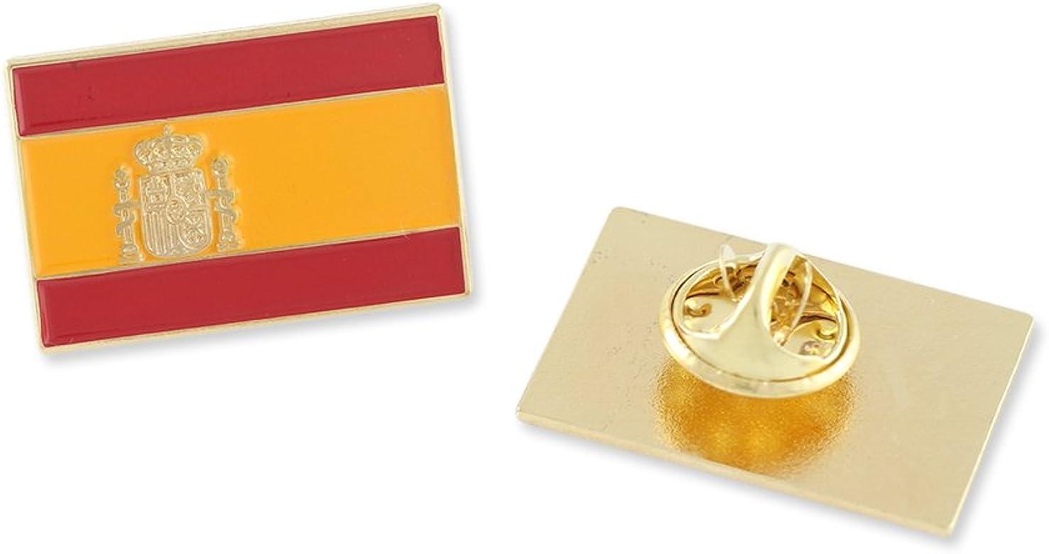 Forge La Bandera española España rojigualda Bandera de España Esmalte Solapa Pin-25 Pines: Amazon.es: Joyería