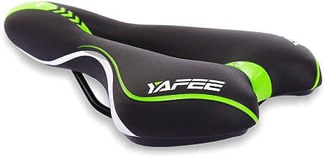 INJOYS sillín de Bicicleta para Mujer, Asiento Acolchado para Bicicleta con cojín Suave, sillín de Repuesto para Bicicleta Que Mejora la Comodidad de conducción en tu Bicicleta de Ejercicio: Amazon.es: Deportes y