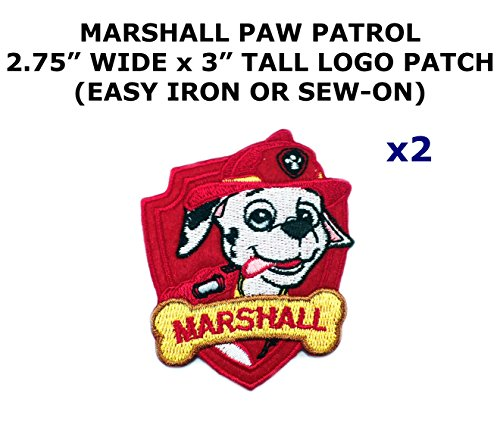 Deadpool Costume Diy (2 PCS Marshall Paw Patrol Cartoon Theme DIY Iron / Sew-on Decorative Applique)