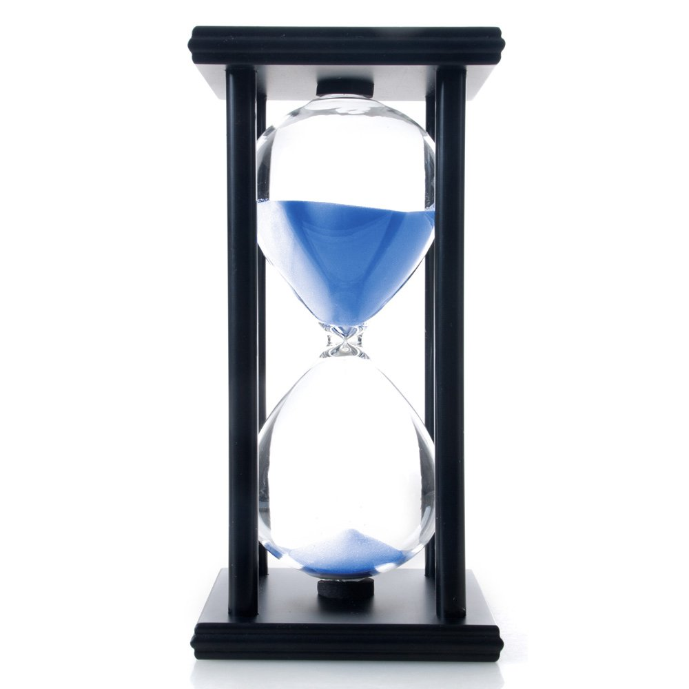 Bellaware 60 Minutes Hourglass, Wood Sand Timer, Blue by Bellaware (Image #2)