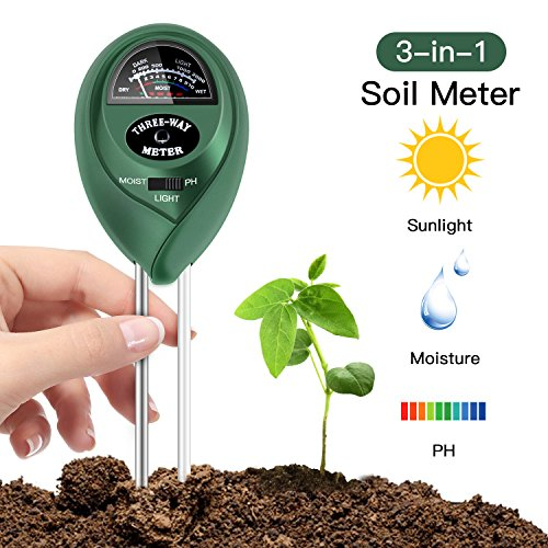 Soil pH Meter, 3 in 1 Soil Test Kit for Moisture, Light & pH/Acidity, Gardening Tools for Home and Garden, Lawn, Farm, Plants, Indoor & Outdoor Plant Care Soil Tester (No Battery Needed) (Grass Patio Ideas)