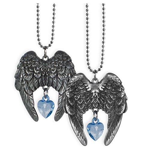 - Guardian Angel Car Charm - Pewter - Sky Blue