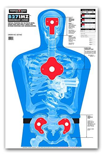 (B27-IMZ Human Silhouette - Paper Gun Range Shooting Targets - 25x38 Inch (25 Pack))