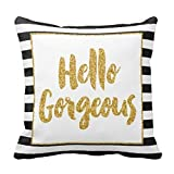 Square Throw Pillow Case Decorative Cushion Cover/Case Zippered...