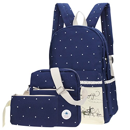 Samaz Korean Canvas School Backpack