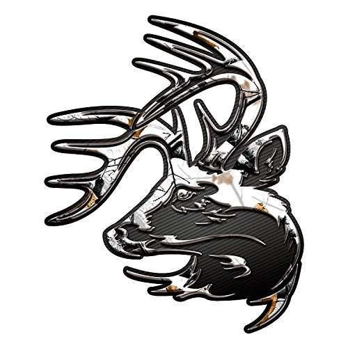 "Legendary Whitetails Truck Buck Decal Magnum 9"" x 11"" Big Game Snow Camo X-Large"