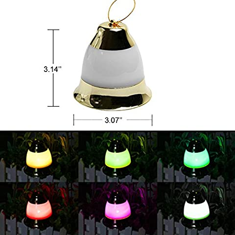 Waterproof Bell Lights, Décor Flash Lighting For Seasonal Decorative Christmas Holiday, Wedding, Parties Xmas Tree, Garden, Lawn, Patio, Home, Bedroom Decorations, Indoor, Outdoor-Green (2 - Jingle Bell Lights